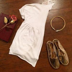 MICHAEL KORS White Short Sleeved Cardigan Sz M